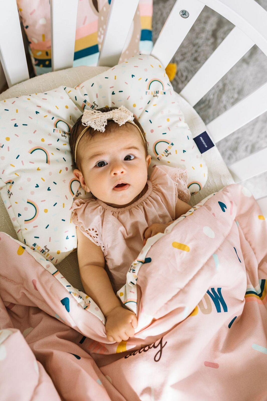 rózsaszín babaágynemű szett kislányoknak