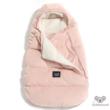 Púder rózsaszín újszülött bundazsák nyitott résszel