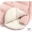 Púder rózsaszín újszülött bundazsák nyitott alsó résszel