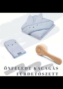 Kék 3 részes fürdetőszett babalátogató ajándék
