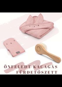 Rózsaszín 3 részes fürdetőszett babalátogató ajándék