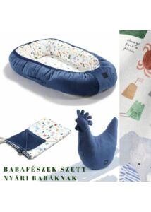 French Riviera Boy nyári babafészek szett  - babalátogató ajándék