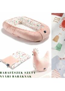 French Riviera Girl nyári babafészek szett  - babalátogató ajándék
