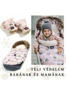 Rainbow Baby két részes téli bundazsák szett