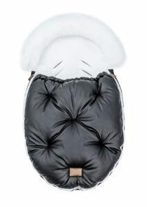 Fekete-Fehér bundazsák babakocsiba