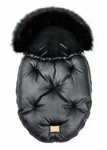 Fekete-Fekete bundazsák babakocsiba