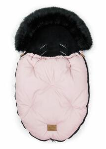 Rózsaszín-Fekete bundazsák babakocsiba