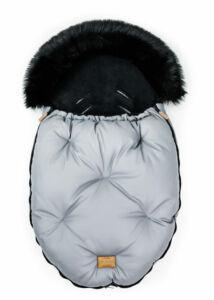 Szürke-Fekete bundazsák babakocsiba