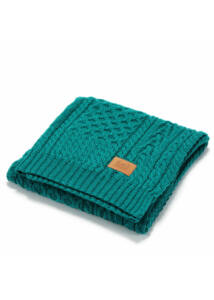 Merinó gyapjú kötött babatakaró - Smaragdzöld