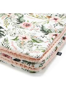 Takaró töltettel - kétoldalas pamut-minky - Wild Blossom