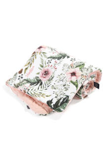 Takaró töltettel - kétoldalas pamut-velvet - Wild Blossom