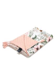 Tavaszi-nyári takaró töltet nélkül - kétoldalas pamut-minky - Wild Blossom