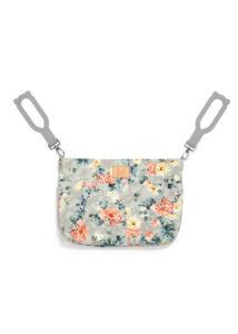kis méretű pelenkázó táska tavaszi virágzás szürke Blooming Boutique