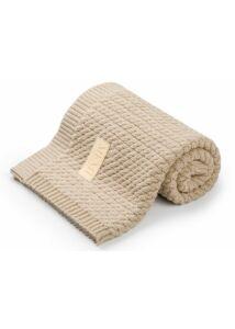 Homok pamut kötött baba takaró