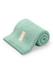 Menta pamut kötött baba takaró