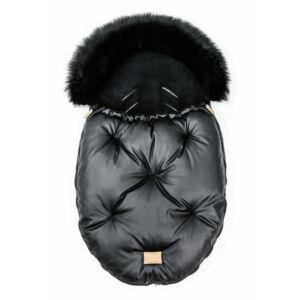baba bundazsák prémium eco bőr anyagból fekete szőrmével