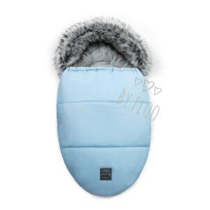 kék baba bundazsák puha szőrmével