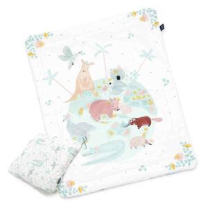 újszülött baba ágynemű szett töltettel és kispárnával koala kenguru és emu mintával