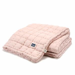 steppelt felnőtt méretű takaró muszlin pamutból púder rózsaszín
