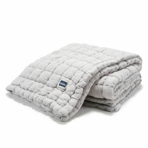 steppelt felnőtt méretű takaró muszlin pamutból szürke színben