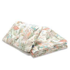ovis ágynemű szett töltettel 100x135 cm menta és rózsaszín színben pálmalevél és retro napszemüveg mintával Boho Girl