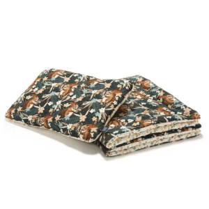 ovis ágynemű szett töltettel 100x135 cm bézs-barna erdei mókus mintával La Millou Pretty Barbara