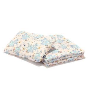 ovis ágynemű szett töltettel 100x135 cm szürke-rózsaszín álmos baglyok La Millou Sleepy Owls