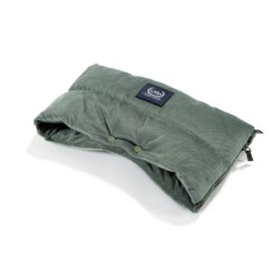 meleg téli Babakocsi bunda kesztyű khaki zöld színben