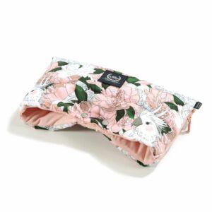 meleg téli Babakocsi bunda kesztyű rózsaszín színben