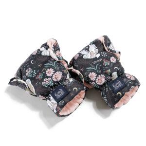 babakocsi kesztyű bagoly mintával hamvas rózsaszín