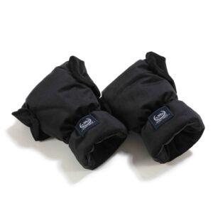 vízálló babakocsi kesztyű fekete színű velvet anyagból La Millou