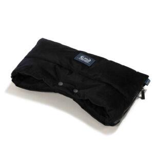 vízálló babakocsi kézmelegítő fekete színű bársonyos velvet anyagból