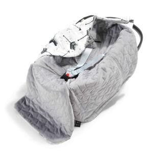 hordozós takaró velvet babakocsi takaró szürke nyilak mintával royal arrows