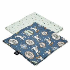2 darabos textil pelenka bambuszból ezüst ionokkal sötétkék körhinta mintával Lunapark by Night