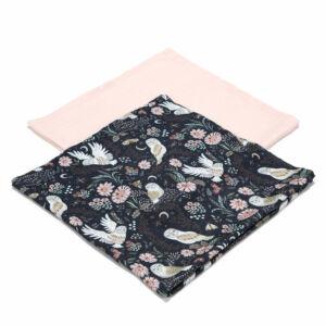 2 darabos textil pelenka bambuszból rózsaszín bagoly mintával Magic Owl