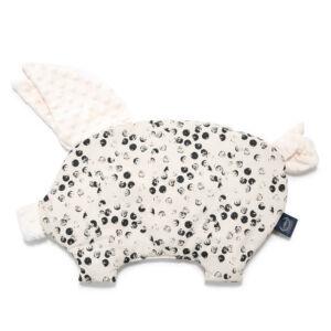 lapos baba párna röfi alakú fekete-fehér pöttyös Wild Cats Stone