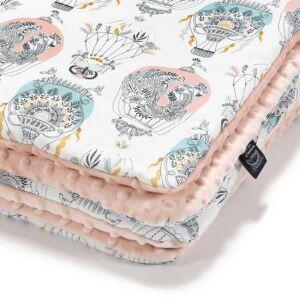 baba takaró töltettel pamut minky puder rózsaszín hőlégballon cappadocia dream