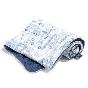 baba takaró töltettel pamut velvet baba harvard kék amerika route 66