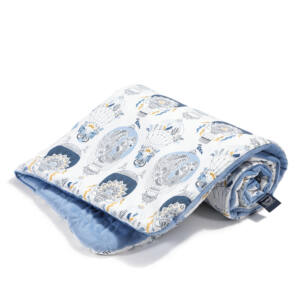 baba takaró töltettel pamut velvet baba galamb kék hőlégballon cappadocia sky