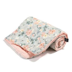 baba takaró töltettel pamut velvet baba puder rózsaszín tavszi virágzás blooming boutique