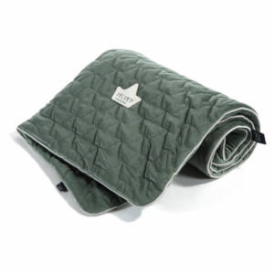 baba takaró velvet prémium anyagból khaki zöld színben