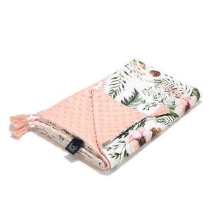 baba takaró töltet nélkül tavaszi nyári kétoldalas pamut minky puder rózsaszín vadvirágok wild blossom