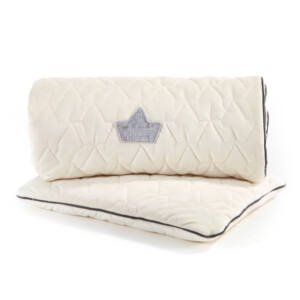 újszülött baba ágynemű szett steppelt varrással töltettel és kispárnával rafaello fehér színben