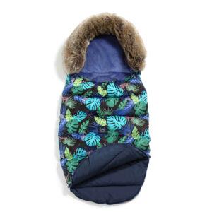 Magic Jungle baba bundazsák kék színben dzsungeles mintával