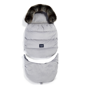 bundazsák kombó méretben 0-3 éves kor között használható prémium velvet anyagból világosszürke színben