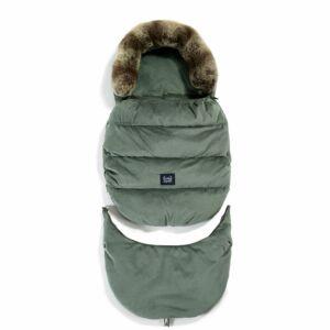 bundazsák kombó méretben 0-3 éves kor között használható prémium velvet anyagból khaki színben
