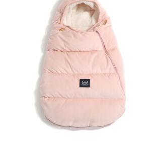 Púder rózsaszín újszülött bundazsák