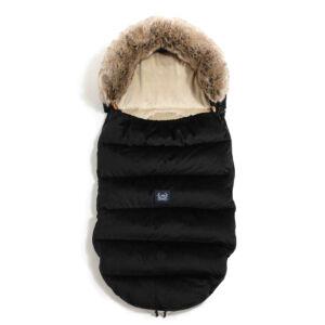 Vízálló baba bundazsák sport babakocsiba fekete színű velvet anyagból fél éves kortól 3 éves korig La Millou