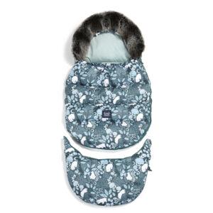 bundazsák állítható méretben 0-3 éves korig prémium velvet anyagból menta white magic jegesmedve mintával