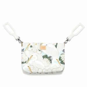 kis méretű kismama táska krém színű lótusz és kócsag mintával